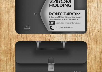 Illustrated brief case business card.