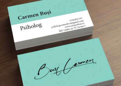 Business card for a psychologist that suggests equality and friendship.