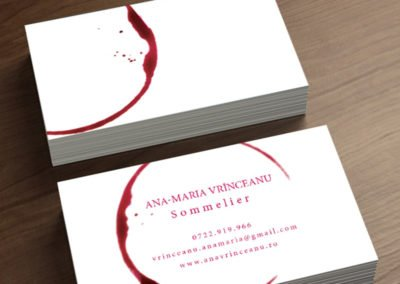 Sommelier Business Card Stain