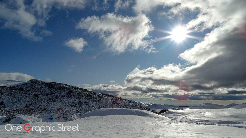 Bucegi Mountain ridge in the winter