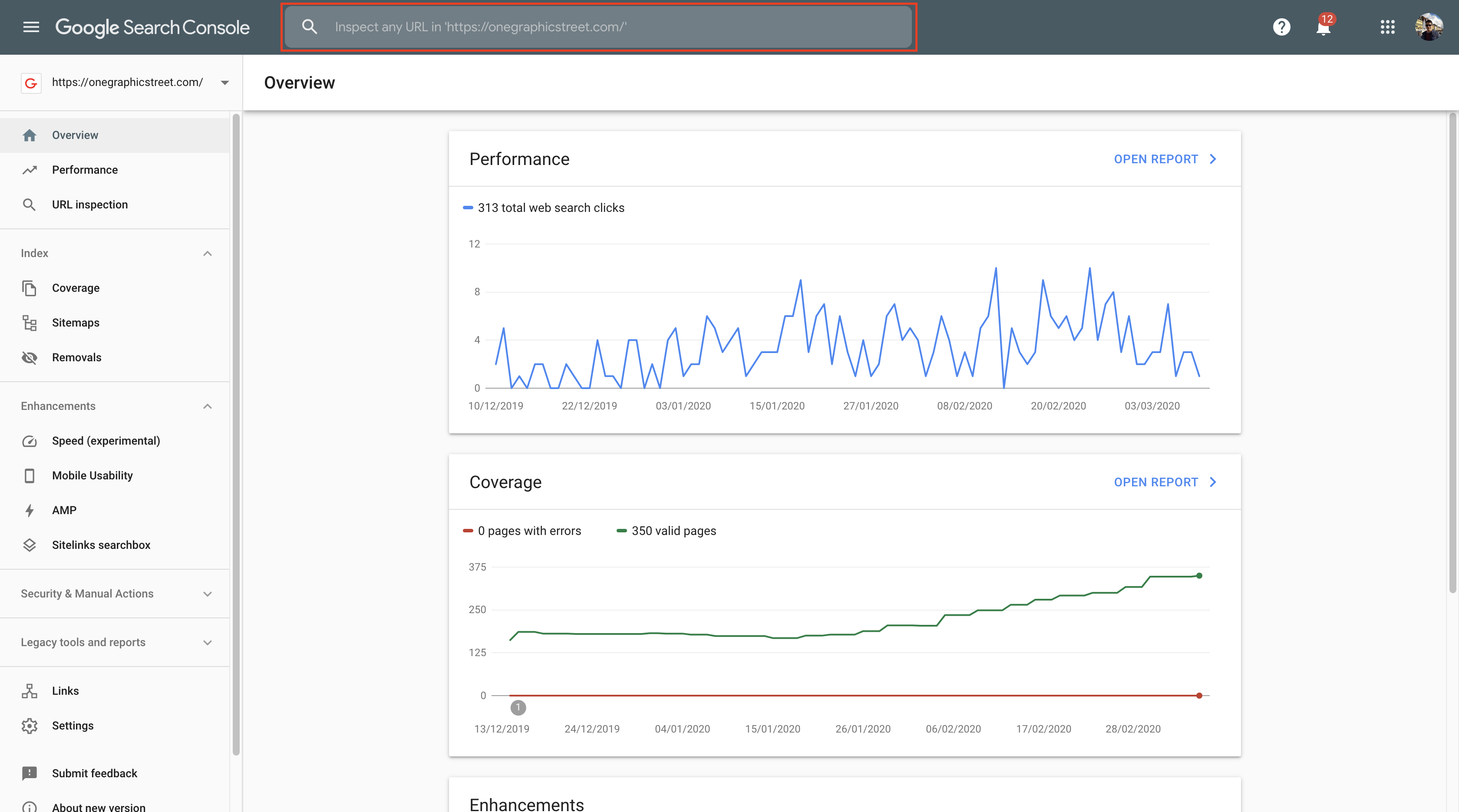 Google Search Console Overview Report